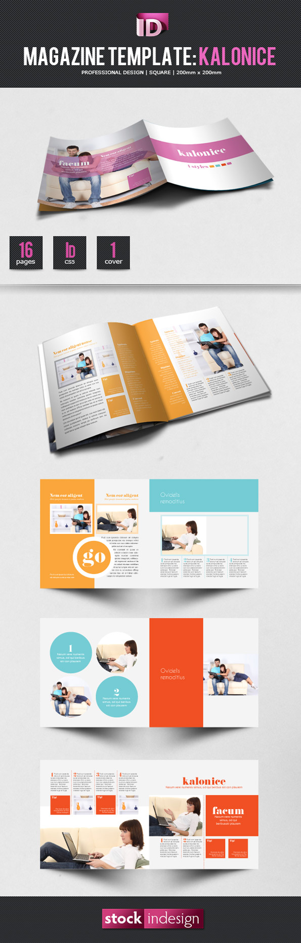 stockindesign magazine template  kalonice