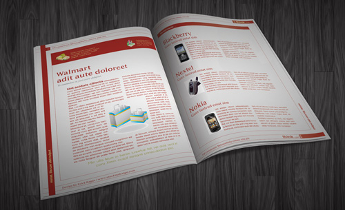 InDesign Magazine Template: Think