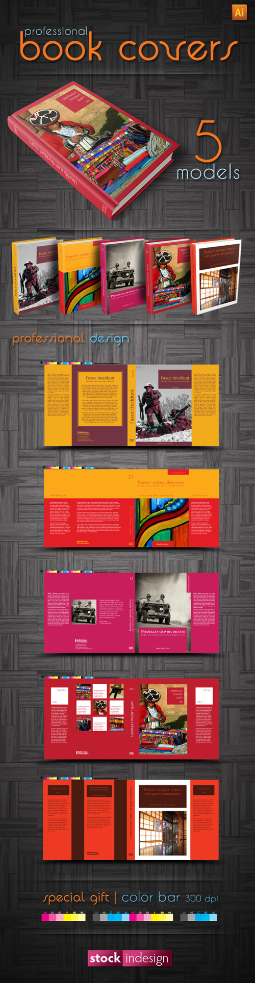 Book Cover Template Adobe Illustrator ~ Stockindesign illustrator book cover templates free