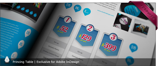 Modern Pricing Table for InDesign