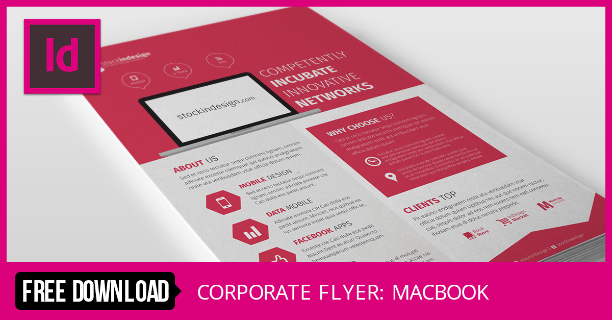 Stockindesign corporate flyer template macbook for Stock indesign
