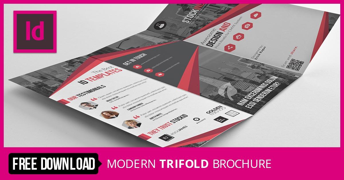Stockindesign modern trifold brochure for Stockindesign