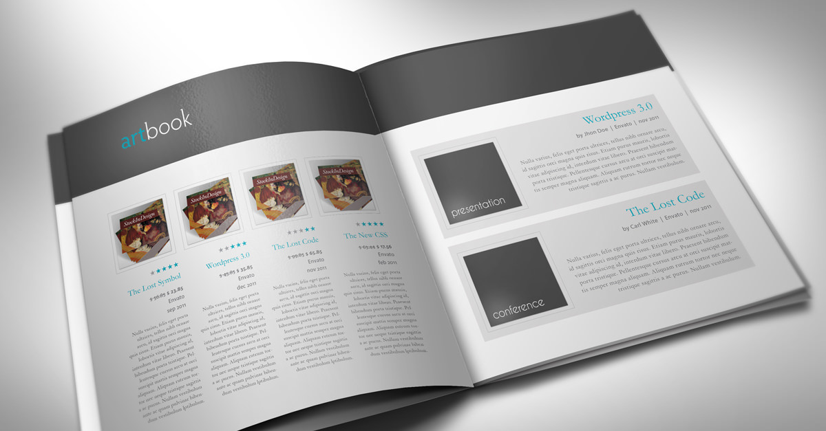 catalog template  artbook