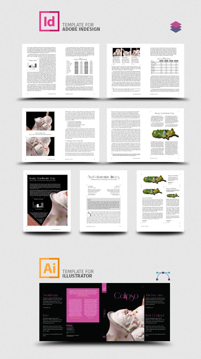 InDesign Book Template: Calipso