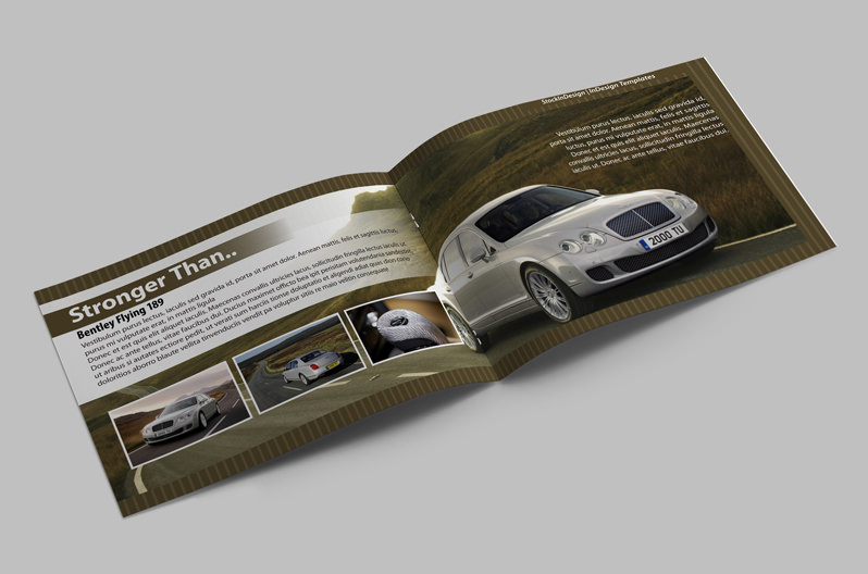 Brochure template cars stockindesign for Automobile brochure design