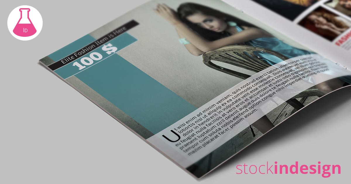 Catalog template fashion stockindesign for Stockindesign