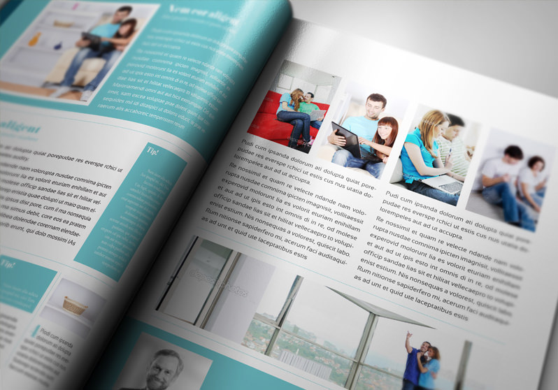 Free Indesign Pro Magazine Template Kalonice
