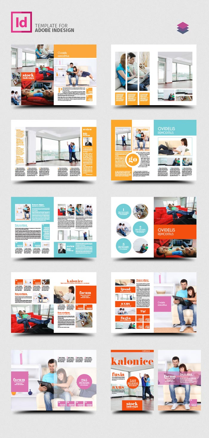 indesign pro magazine template: kalonice, Powerpoint templates