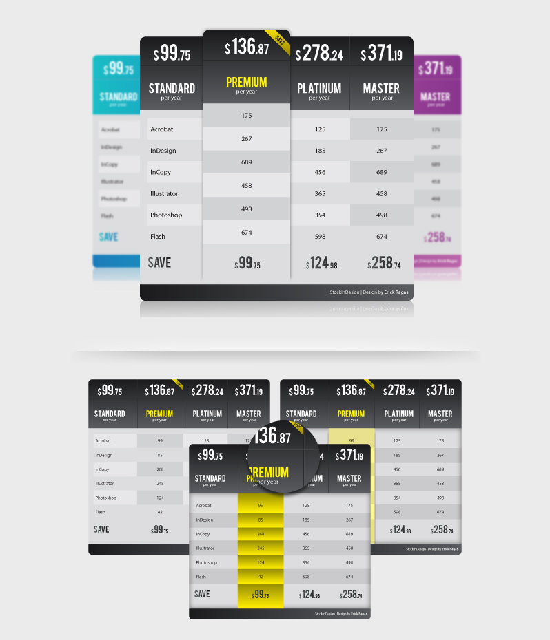 20 Premium Table Styles for InDesign | StockInDesign