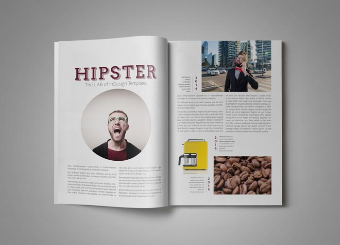 Pro Magazine Template Hipster Stockindesign
