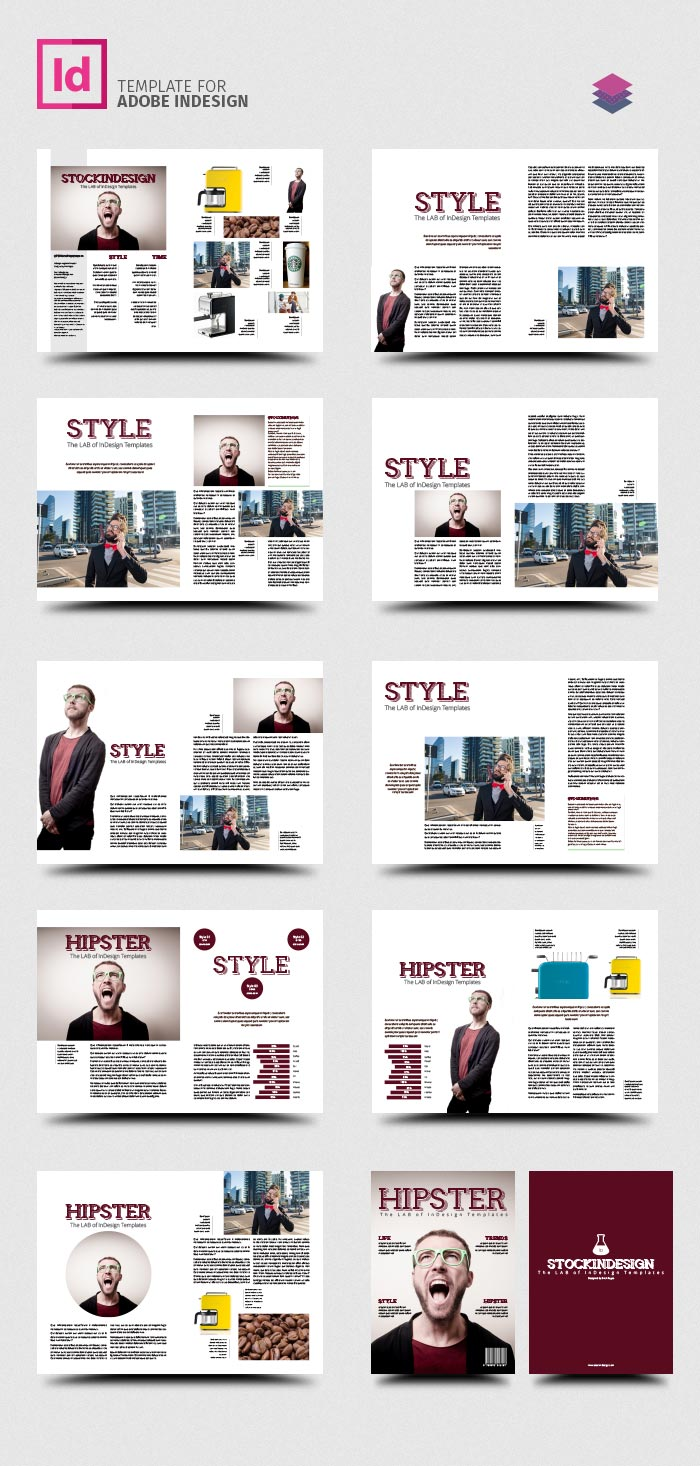 Pro magazine template hipster stockindesign for E magazine templates free download