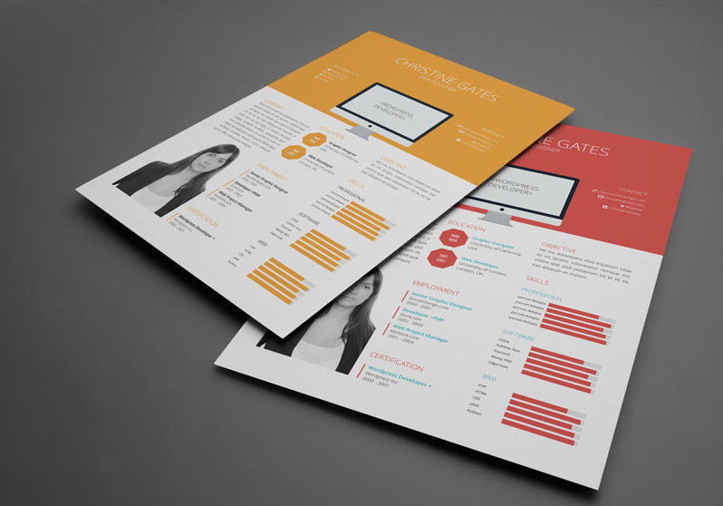 Indesign free resume template