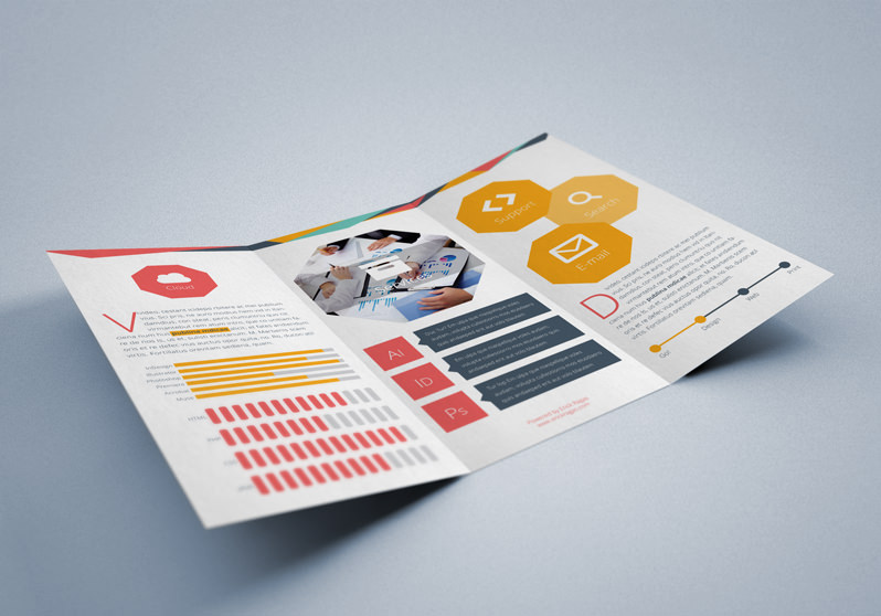 Flat Tri-fold Brochure Template