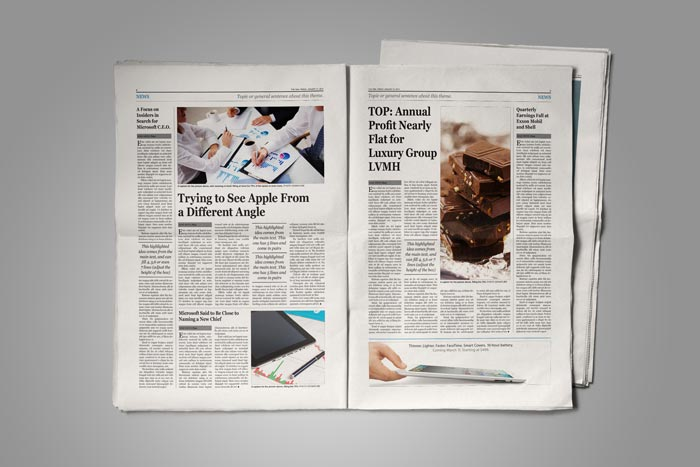 Old style newspaper template stockindesign old style newspaper template pronofoot35fo Gallery