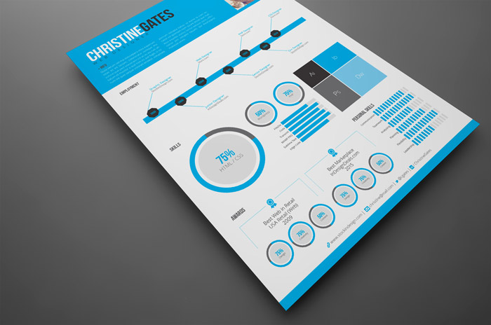 InDesign Modern Infographic Resume
