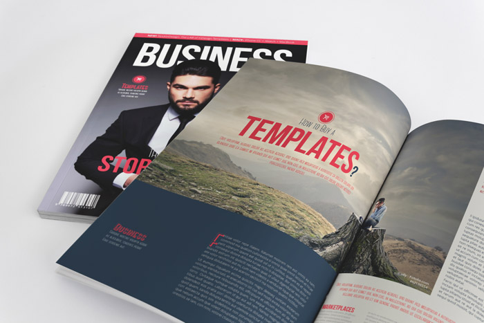 business magazine template | stockindesign, Powerpoint templates
