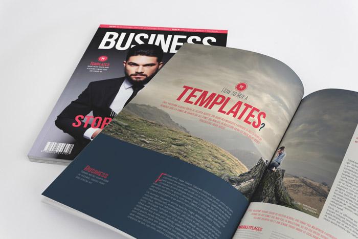 business magazine template stockindesign. Black Bedroom Furniture Sets. Home Design Ideas
