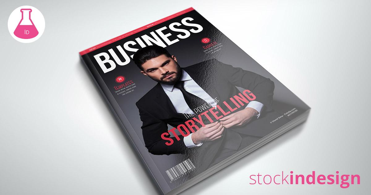 Business magazine template stockindesign for Stockindesign