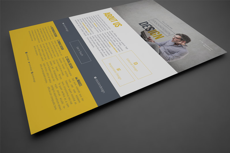 Indesign template project poster