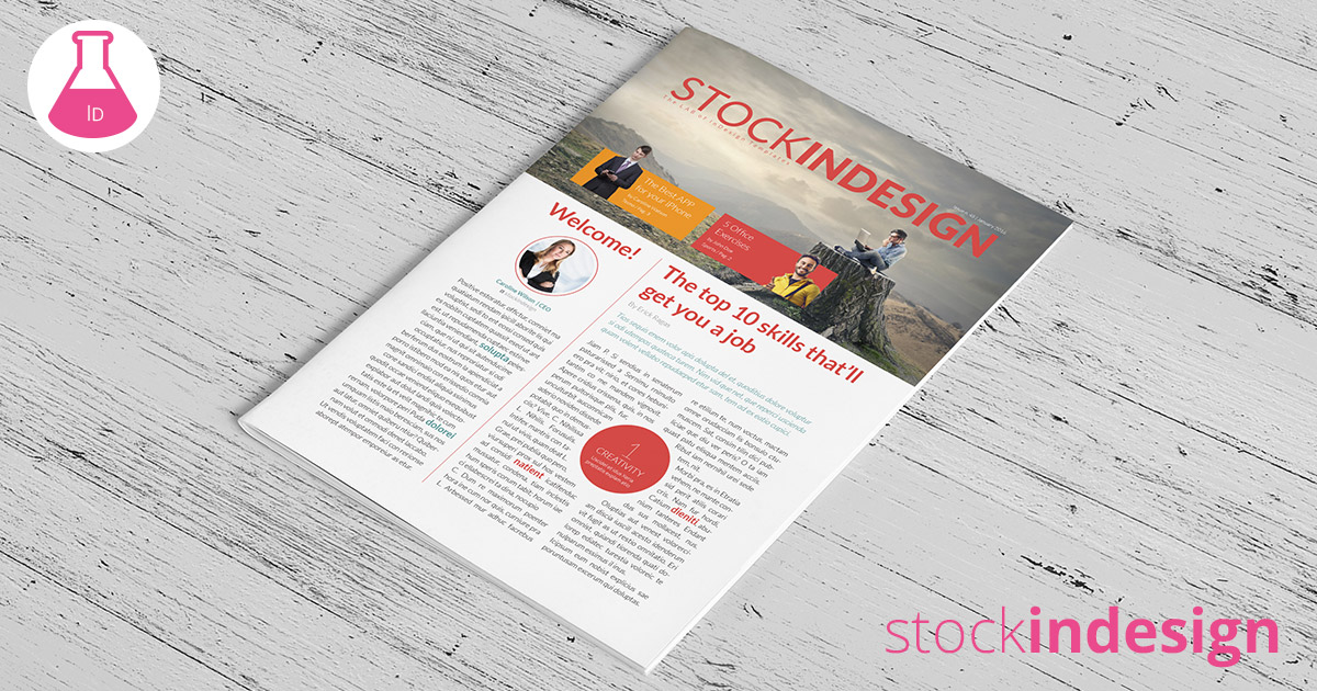 Free business newsletter stockindesign for Stock indesign