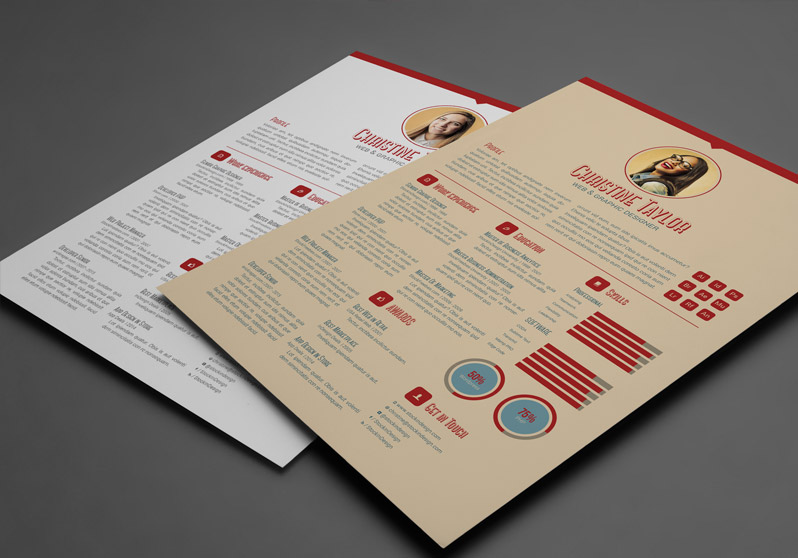 InDesign Business Resume Template