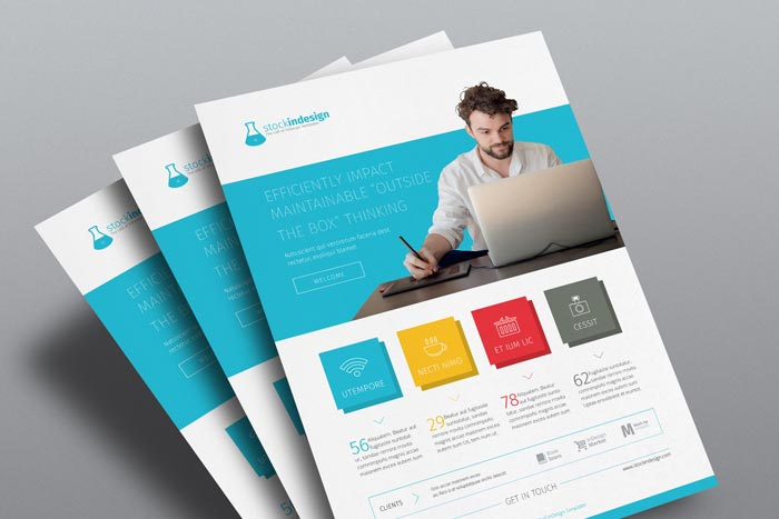 InDesign Corporate Flyer: Flat Design