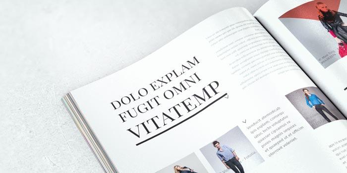 Malgosia fashion magazine stockindesign for Stock indesign