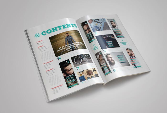 Rustic magazine template stockindesign for Magazine layout templates free download