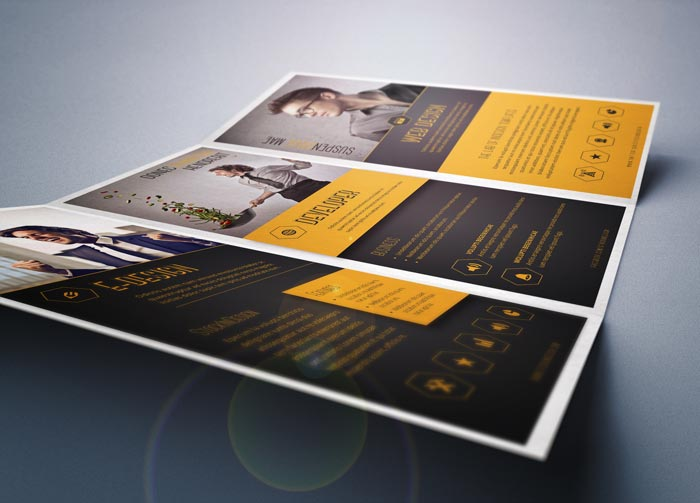 InDesign Trifold Corporate Brochure
