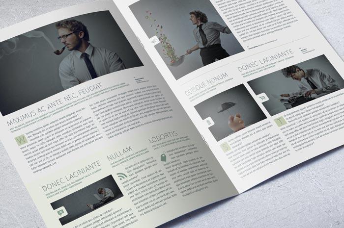 Modern business newsletter template adobe indesign template for Modern newsletter design