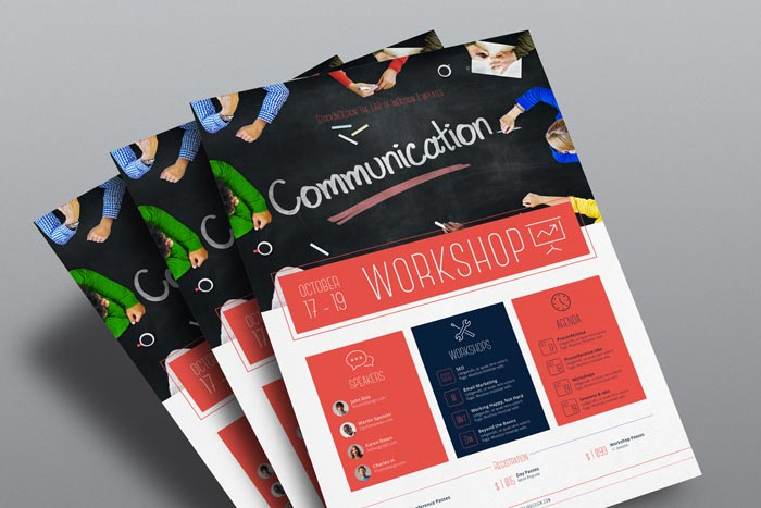 Corporate flyer template workshop stockindesign indesign corporate flyer template workshop saigontimesfo