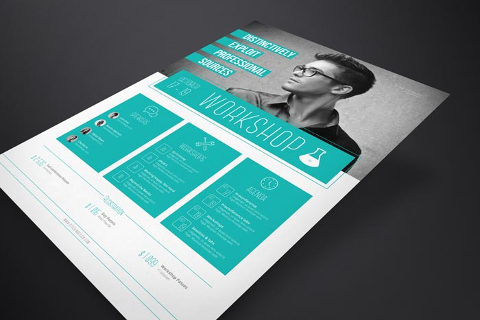 Corporate Flyer Template: Workshop | StockInDesign