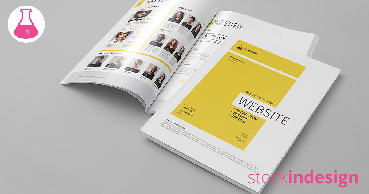 Website project proposal stockindesign for Stock indesign