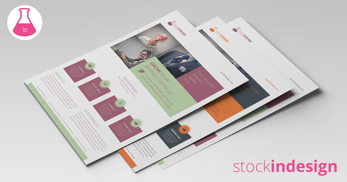 Corporate flyer template stockindesign for Stock indesign