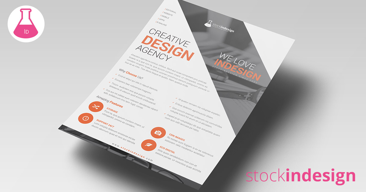 Corporate agency flyer stockindesign for Stockindesign