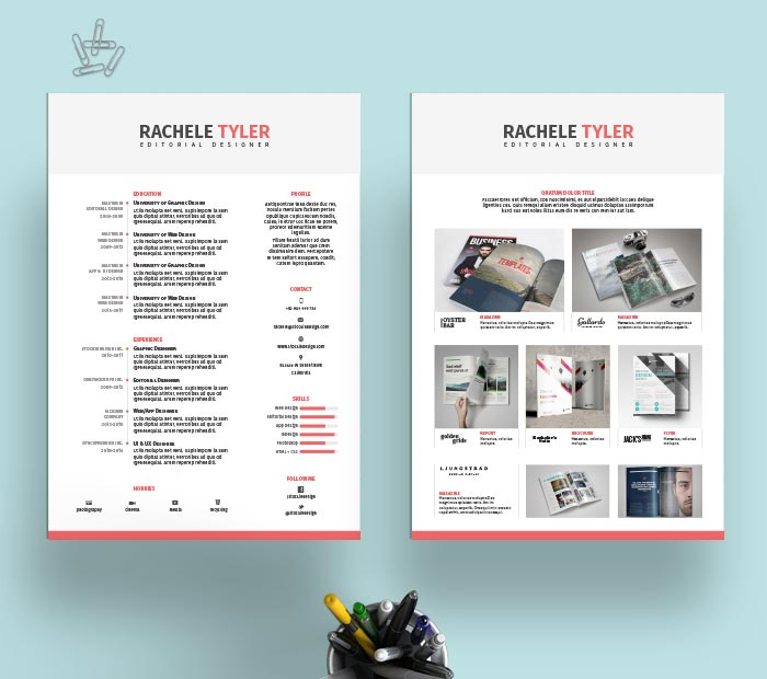 FREE InDesign Resume Template  Resume Templates Indesign