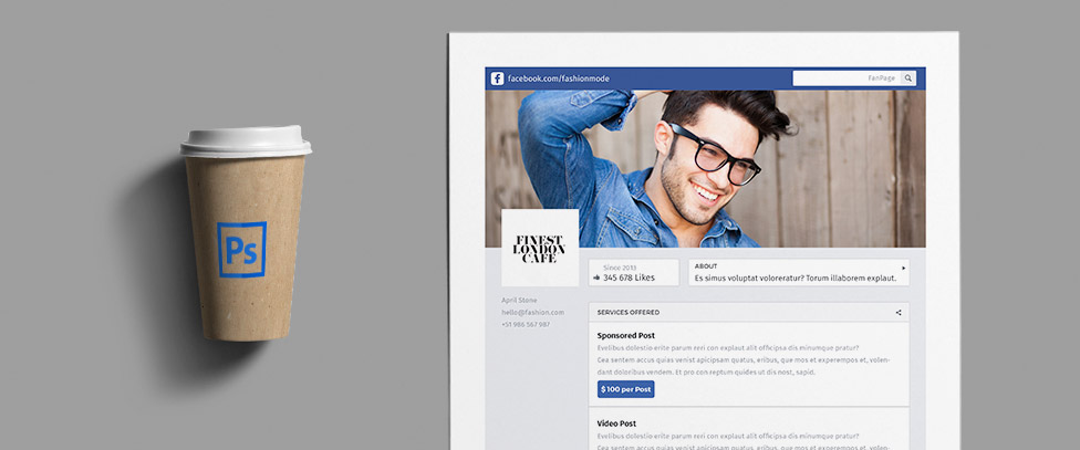 FREE Social Media Kit: FanPage - PSD