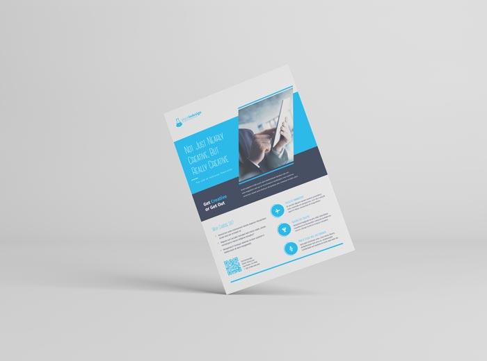 Corporate Flyer Template – Azure Flyer Template