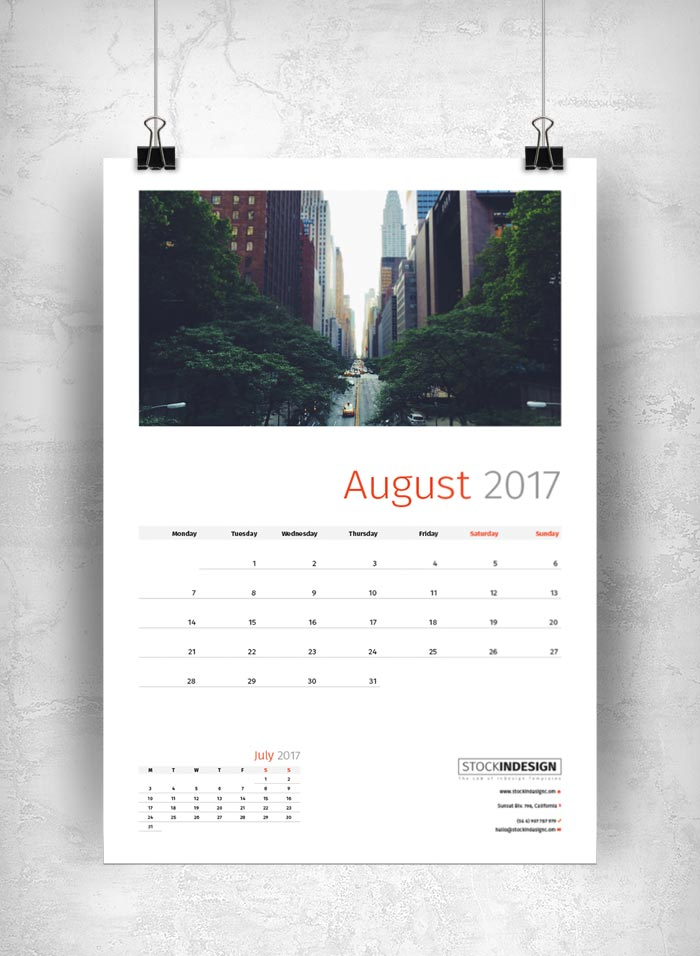 Wall Calendar 2017 | Stockindesign