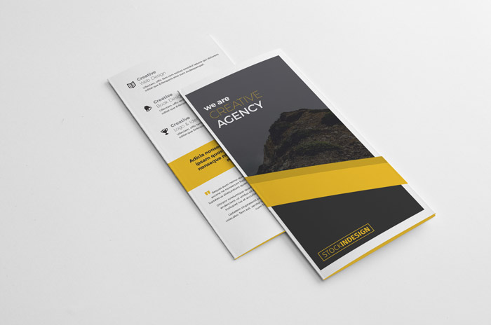 free trifold brochure free indesign templates