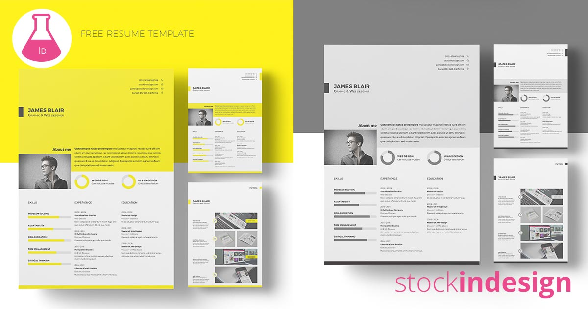 free indesign templates free resume template free indesign templates 21852 | 121 facebook