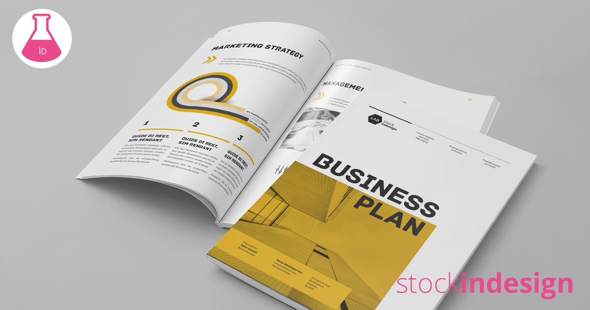 Business Plan Template Adobe InDesign Template - Indesign business plan template