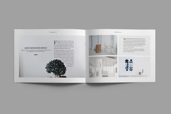Landscape Book Cover Design : Free minimal magazine landscape stockindesign