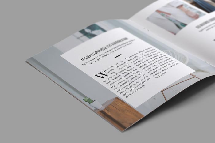 Minimal Square Magazine Template