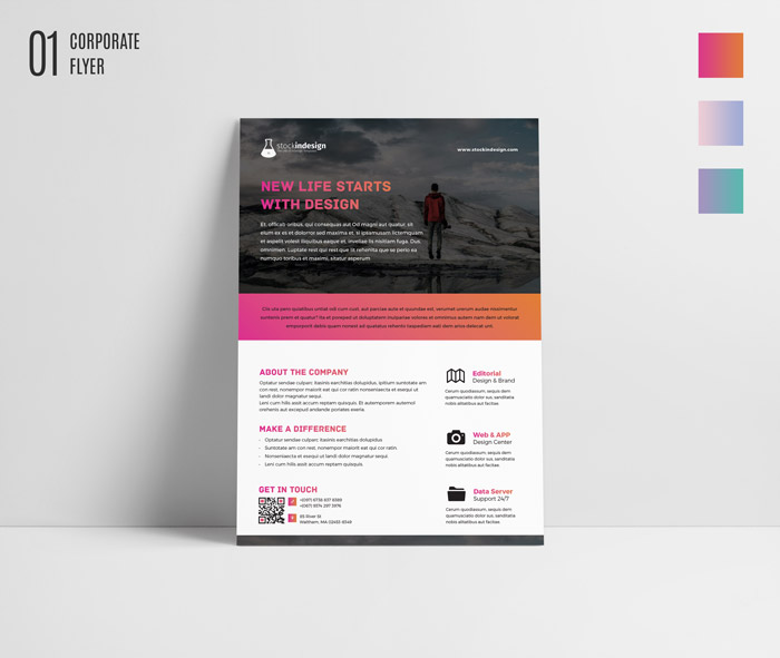 Free indesign bundle 10 corporate flyer templates for 8 5 x 11 brochure template indesign