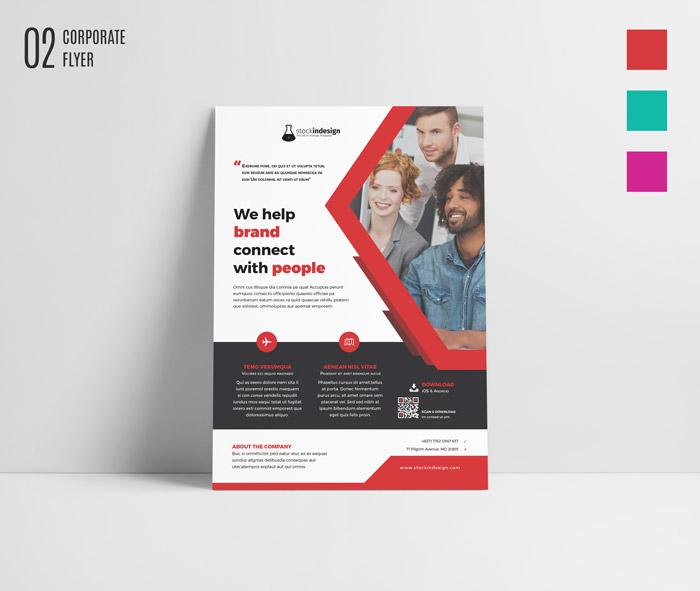 Adobe Indesign Templates: FREE InDesign Bundle: 10 Corporate Flyer Templates