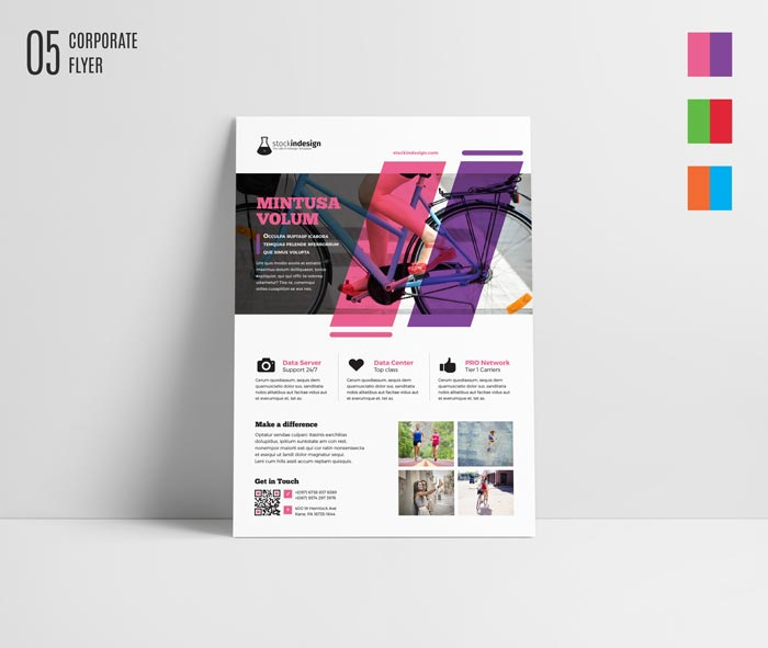 Indesign Templates: FREE InDesign Bundle: 10 Corporate Flyer Templates
