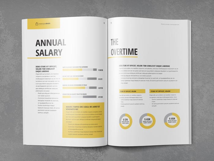 Employee handbook template stockindesign for Employee handbook cover design template