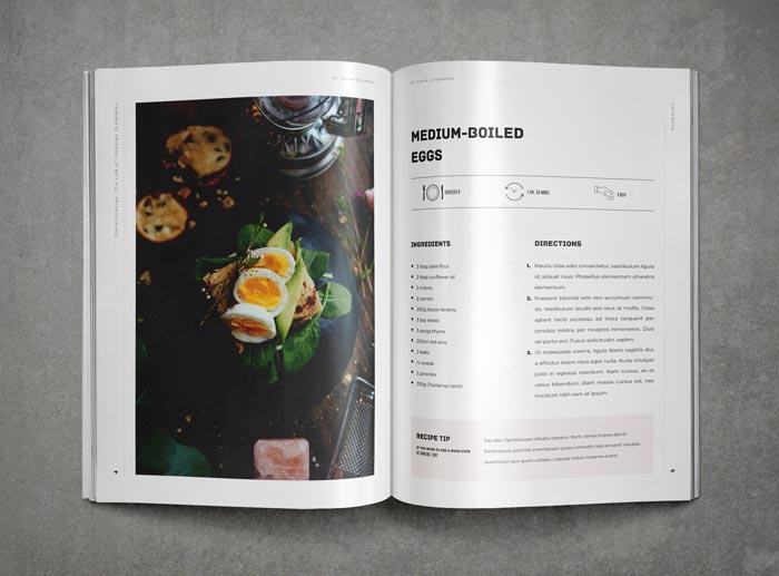 cookbook    recipe book template