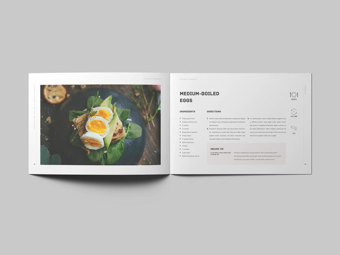 Cookbook / Recipe Book Landscape Template